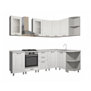 """Кухня """"Афина МДФ"""" 240 x 150 см, Айс"""
