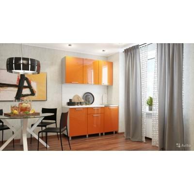 """Кухня """"Блестки Оранж"""" 1,5 м"""