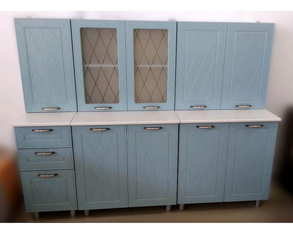 """Кухня """"Афина МДФ"""" 200 см, Айс"""