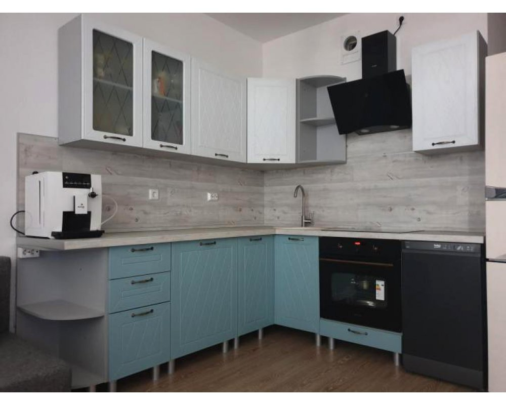 "Кухня ""Афина МДФ"" 240 x 150 см, Айс/Арктик"