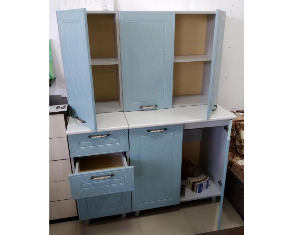 """Кухня """"Афина МДФ"""" 160 см, Арктик"""
