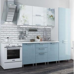 """Кухня """"Бьянка"""" 2,1 м, голубые блестки"""