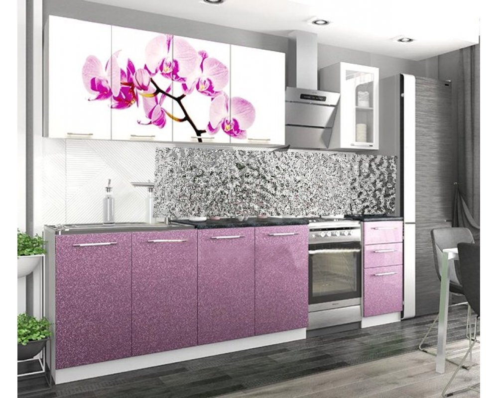 """Кухня """"Орхидея"""" 2 м"""
