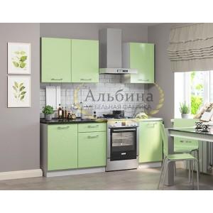 "Кухня ""Симона"" 1,5 м Салатовый металлик"