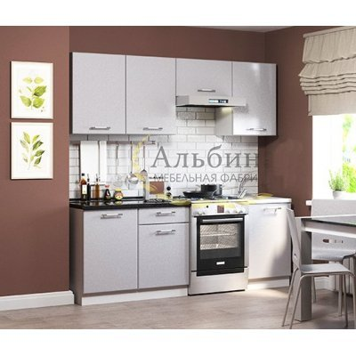 "Кухня ""Симона"" 1,5 м Серебристый металлик"