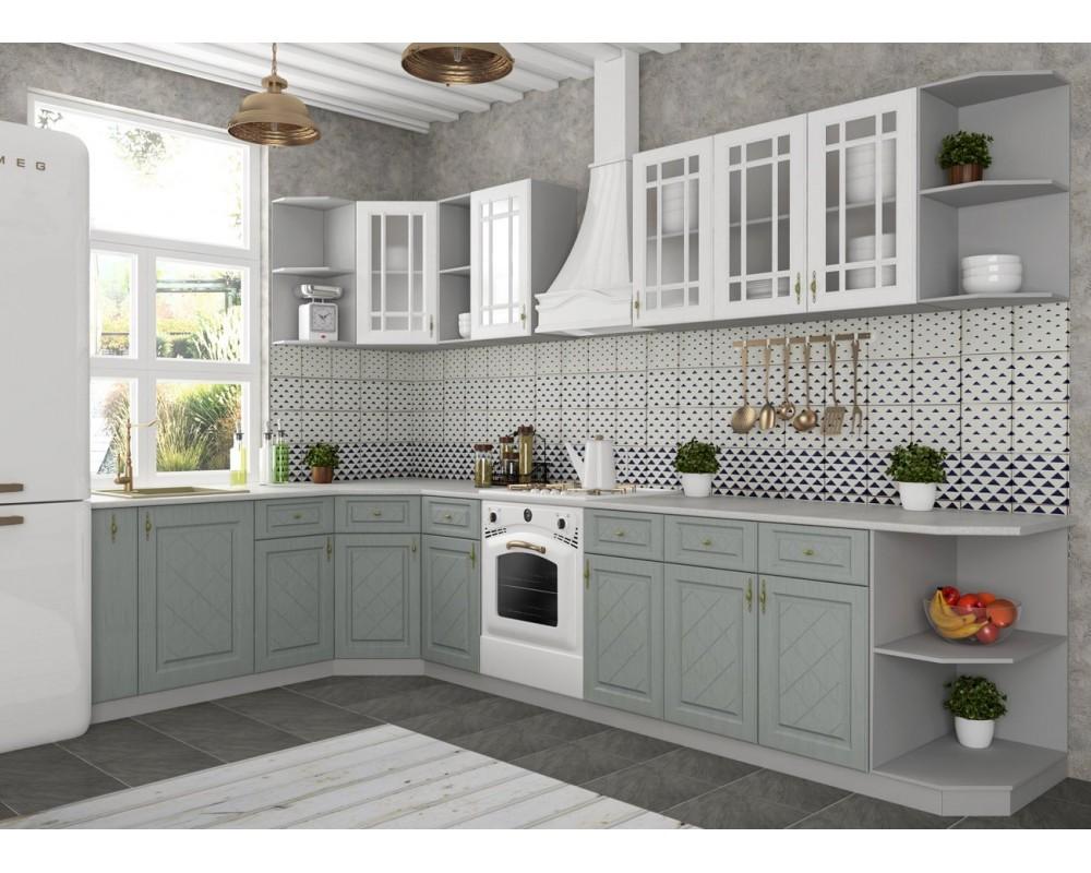 """Кухня """"Гранд"""" Белый/Пепел №3"""