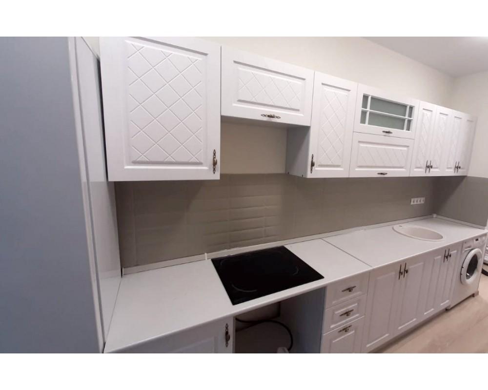"""Кухня """"Гранд"""" Белый/Зелёный №5"""