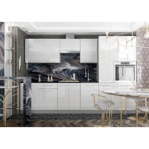 """Кухня """"Капля"""" Белый №1"""