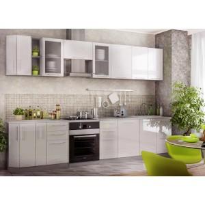 """Кухня """"Капля"""" Белый глянец №5"""