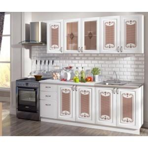 "Кухня ""Визаж"" 2 м Белый/белый матовый"