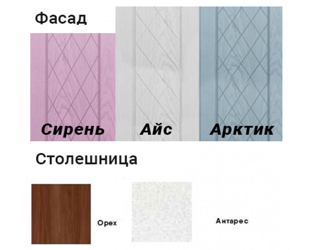 """Кухня """"Афина МДФ"""" 240 см, Айс"""