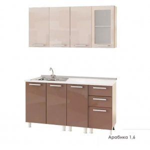 "Кухня ""Арабика МДФ 2"", 160 см"
