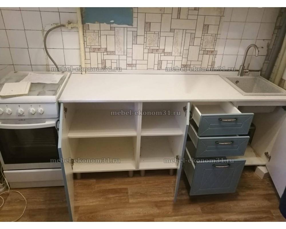 """Кухня """"Афина МДФ"""" 160 см, Айс/Арктик"""