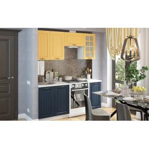 "Кухня ""Мария-1 120-180 см синий+желтый"""