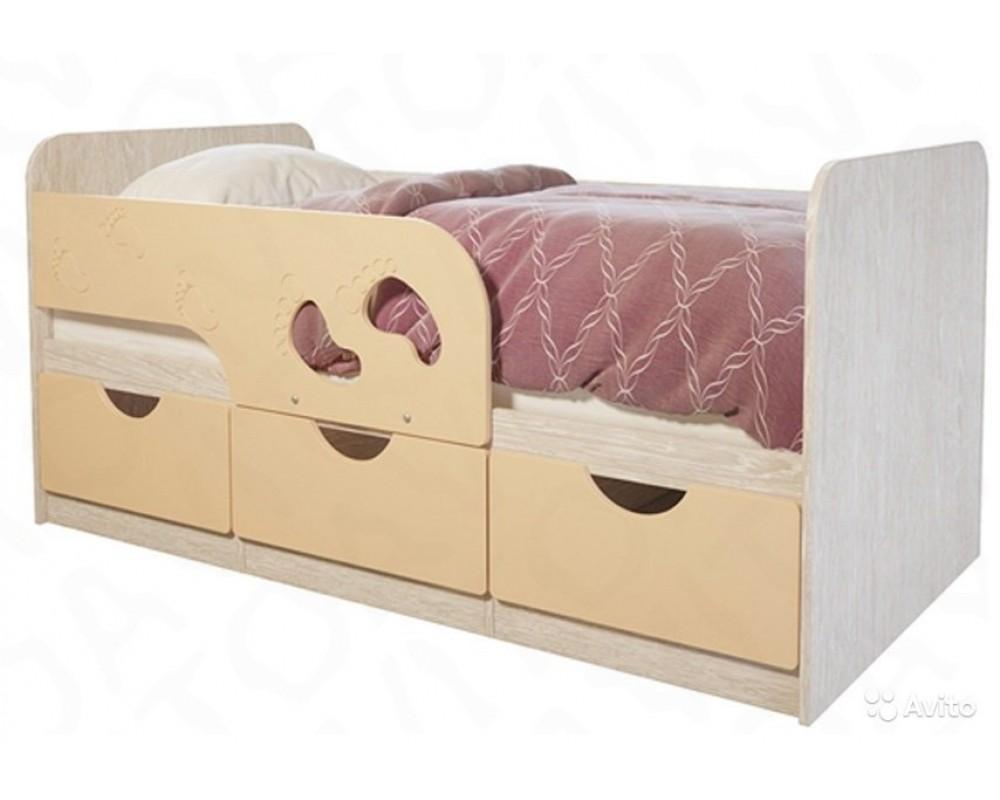 """Детская кровать """"Минима Лего"""" 186 см Дуб атланта/Крем брюле"""