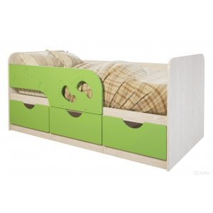 """Детская кровать """"Лего-лайм 186 см"""""""