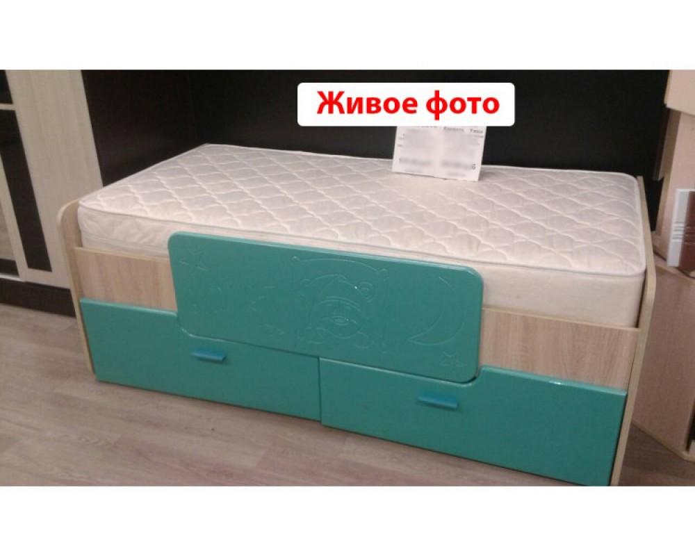 """Детская кровать """"Умка-7"""" Бирюза металлик"""