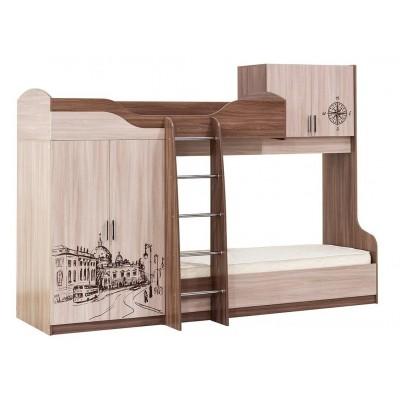 """Детская двухъярусная кровать """"Город"""""""