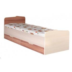 """Кровать 0.8 №15 """"Евро"""" с ящиками и основанием"""