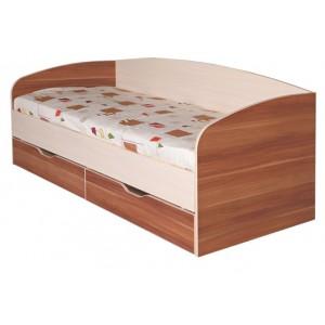 """Кровать 0.8 №16 """"Евро"""" с ящиками и основанием"""