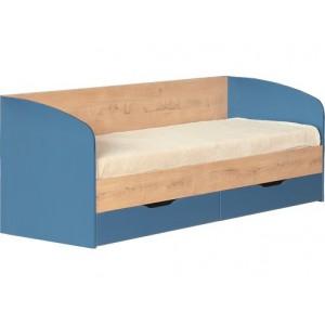"""Кровать №13 """"Космос"""" с ящиками и основанием Альпийское озеро"""