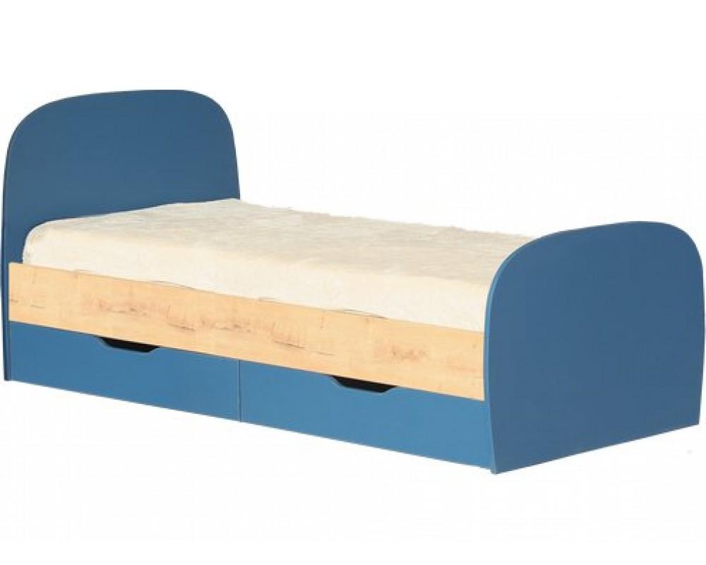"""Кровать №12 """"Космос"""" с ящиками и основанием Альпийское озеро"""