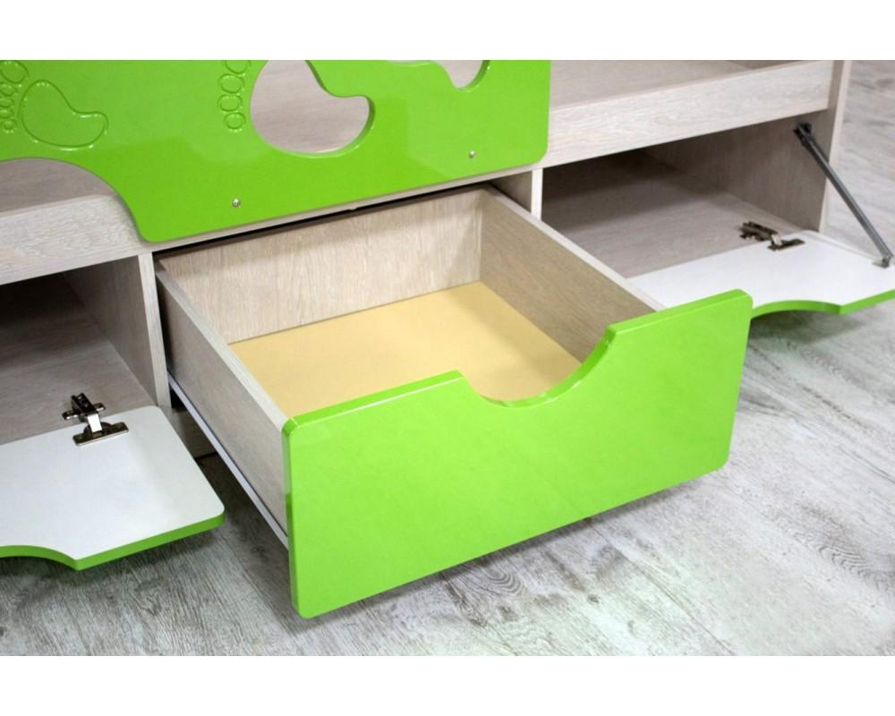 """Детская кровать """"Минима Лего"""" 163 см Дуб атланта/Крем Брюле"""