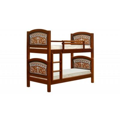 """Двухъярусная кровать """"Мишутка"""" с основанием под двухсторонние матрасы"""