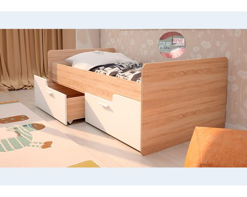 """Детская кровать """"Умка-3"""" белый глянец"""