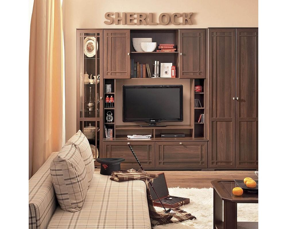 "Гостиная ""Sherlock 1"" МЦН Орех шоколадный (С1)"