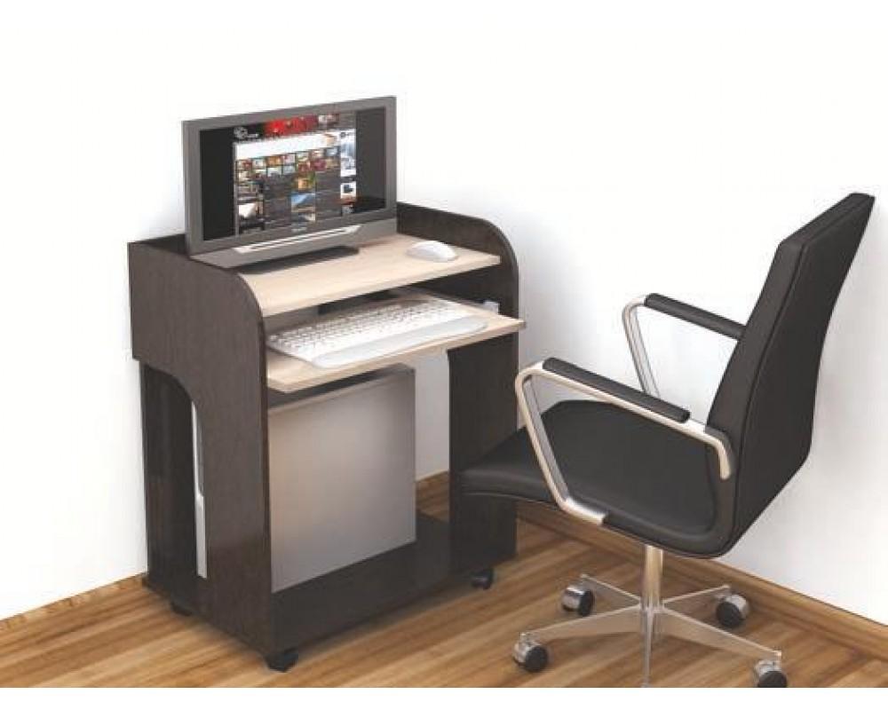 """Компьютерный стол """"Гретта-10"""" Ясень Шимо темный/Дуб сонома"""
