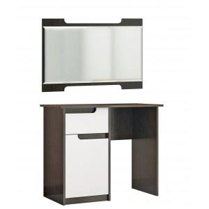 """Туалетный стол """"Гавана"""" Белый акрил + зеркало"""