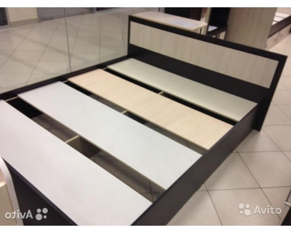 """Кровать """"Фиеста"""" 1,6 м Ясень тёмный/светлый без матраса"""