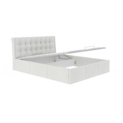 """Кровать """"Лагуна"""" белый 160 с подъемным механизмом"""