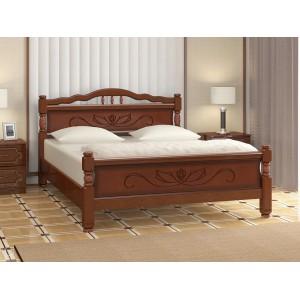 """Кровать """"Карина-5"""" 1,6 м Орех"""
