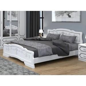 """Кровать """"Карина-6"""" 1,6 м Белый Жемчуг"""
