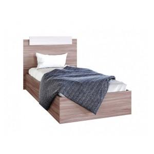 """Кровать """"Эко"""" 0.9 м Ясень шимо тёмный/светлый"""