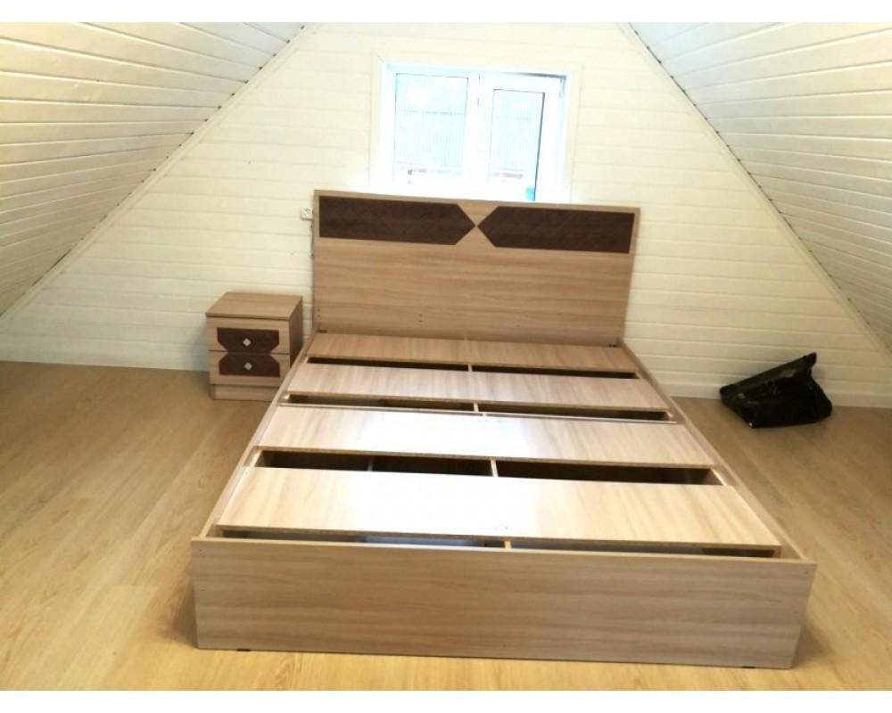 """Кровать """"Николь"""" 1.6 м Ясень Шимо"""