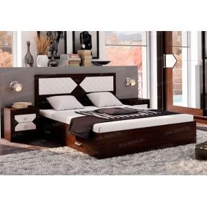 """Кровать """"Николь"""" 1.4 м Венге"""