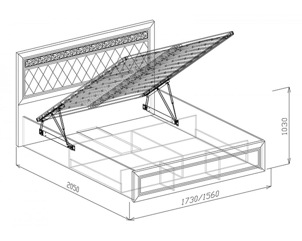 """Кровать №1 """"Флоренция"""" 1.4м (подъемная с основанием)"""