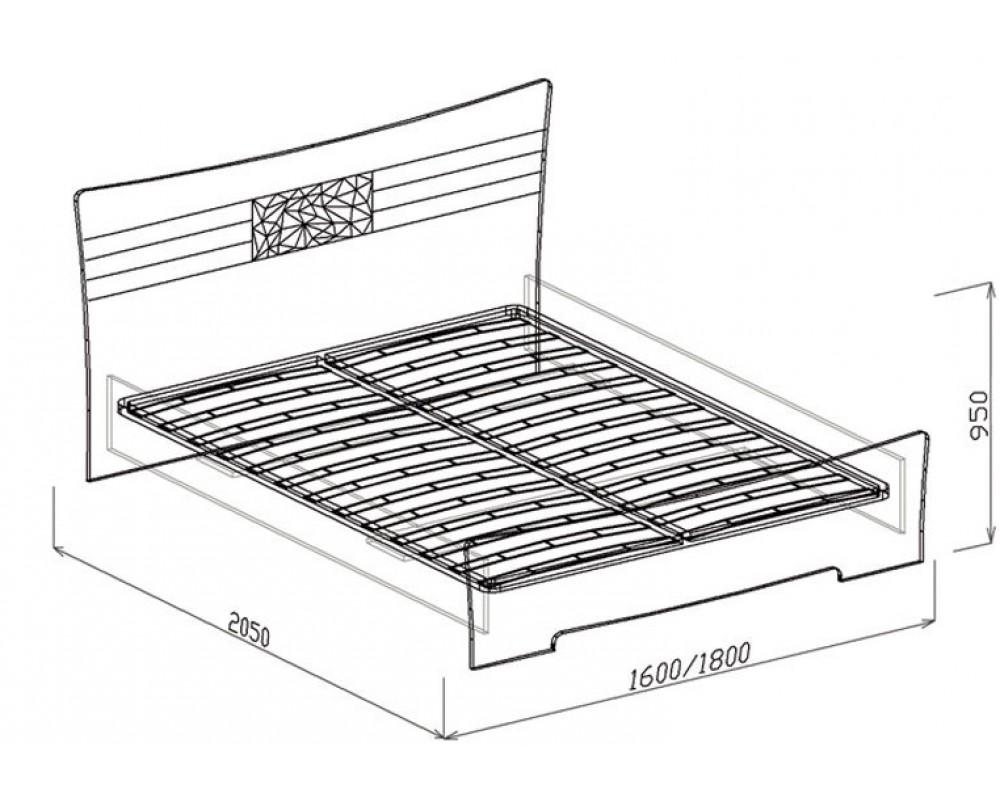 """Кровать №1 """"Роберта"""" 1.4м (с основанием)"""