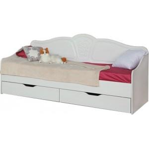 """Кровать №4 0,8 с ящиками (с основанием) """"Тиффани"""""""