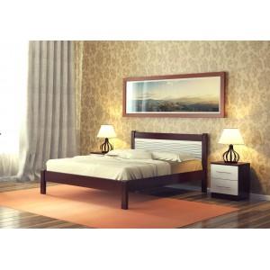 """Кровать """"Катрин-3"""", 1.6 м Орех/белый"""