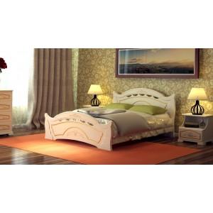 """Кровать """"Нимфа-2"""", 1,6 м Белый/золото"""