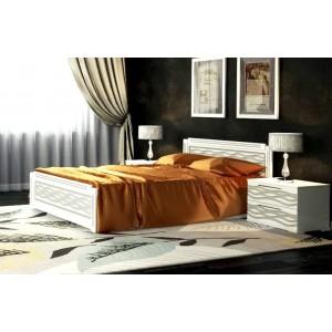 """Кровать """"Венеция-2"""" Белый/серебро/патина 0,9 м"""