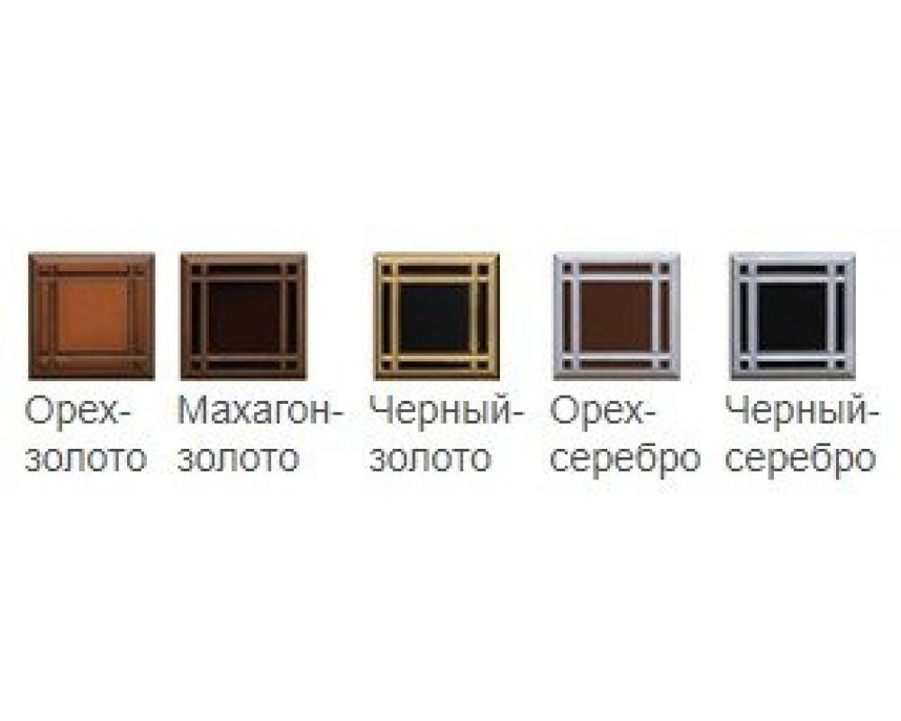 """Кровать """"Венеция-2"""" Белый/серебро/патина 1,4 м"""