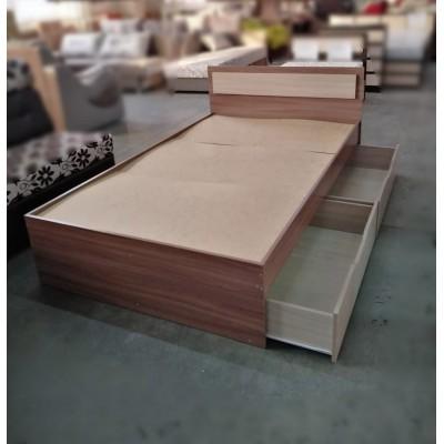 """Кровать """"Гармония КР 606"""" 1,2 м без матраса, ясень"""