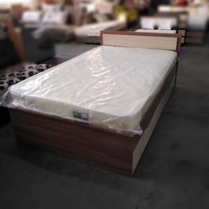 """Кровать """"Гармония КР-606"""" 1,2 м с матрасом, ясень"""