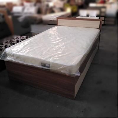 """Кровать """"Гармония КР-606"""" 1,2 м с матрасом Natura Vera Bonnel PROMO 3, ясень"""