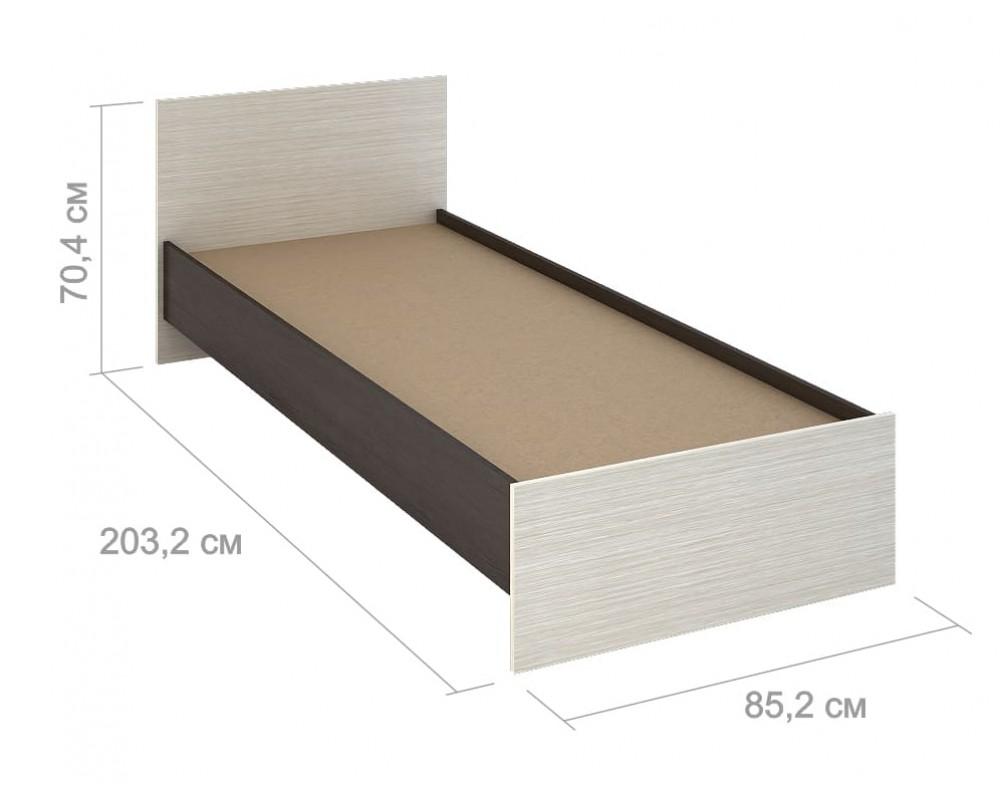 """Кровать """"Бася КР 554"""" 80 см"""